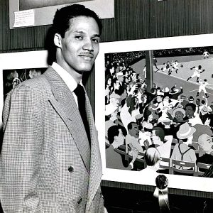 American Scene at Ebbets Field , 1948